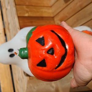 Vintage Halloween Pumpkin Candle